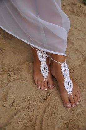beach-wedding-bianco-da-sposa-crochet-sandali-a-piedi-nudi-scarpe-nude-gioielli-piede-nuziale-pizzo