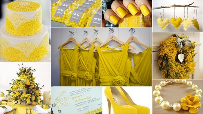 Mimosa Yellow Collage